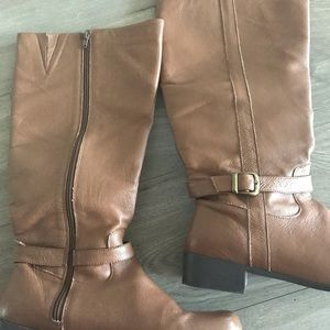 Comfortview Leather Riding Boots. Size 12W.